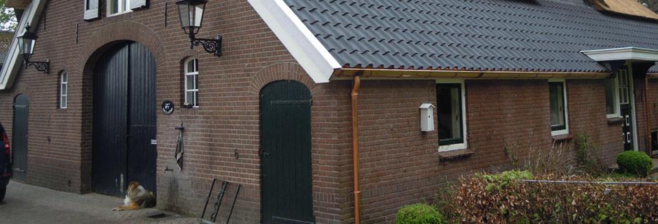 Rietdekkersbedrijf Van Drie en Vliek - Koperwerk boerderij
